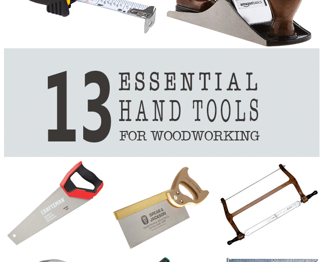 essential hand tools for woodworking