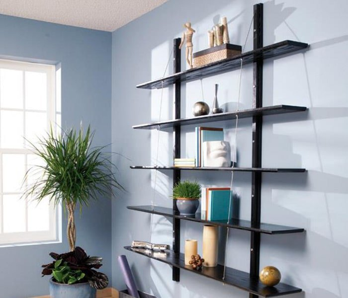 family handyman's suspended bookshelves