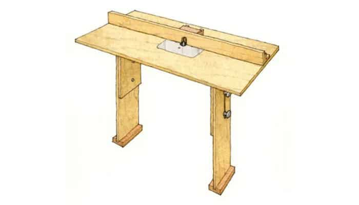 fine woodworking stow-and-go router table