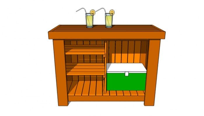 free home bar plan
