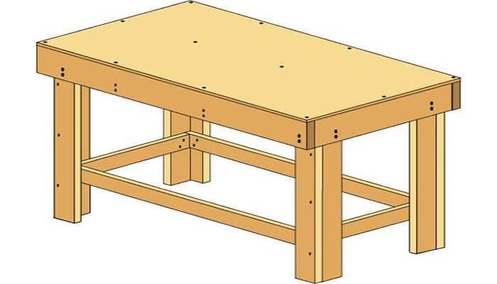 how to build a workbench by lowe's