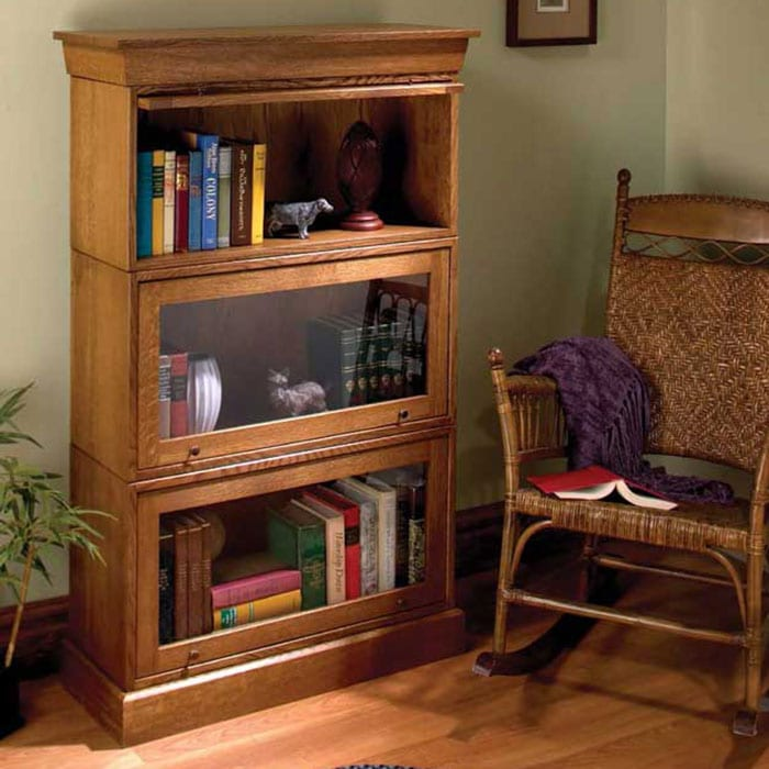 popular woodworking's simple barrister bookcase