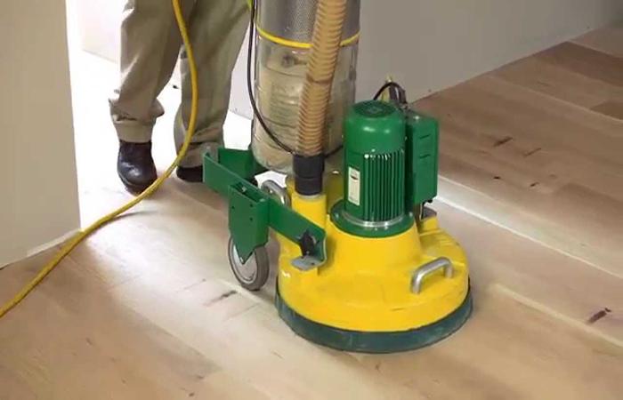 sanding wood floor