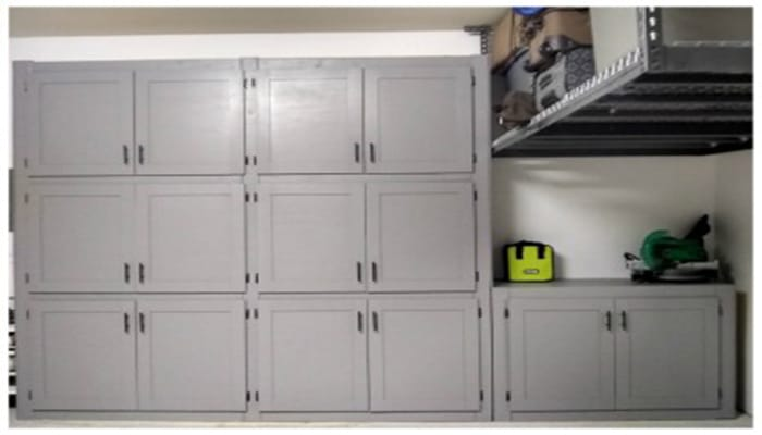 wall attached garage shelves