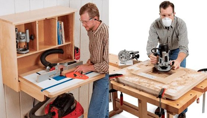 rockler's wall mounted router table