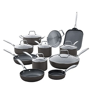 amazon brand stone & beam kitchen cookware set