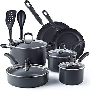 cook n home 12 piece nonstick hard anodized cookware set
