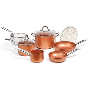 copper chef cookware 9pc round pan set