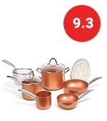 copper chef cookware pan set