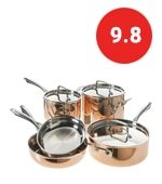 cuisinart tri ply copper cookware set