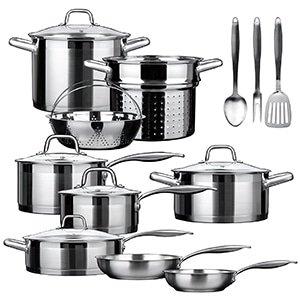 duxtop 17 piece cookware set