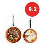 gotham steel hard anodized fry pan premium skillet set