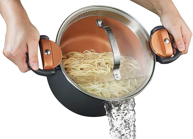 gotham steel multipurpose pasta pot