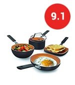 gotham steel mini stackmaster 5 piece cookware set