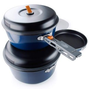 nesting and stackable Camping Cookware Set