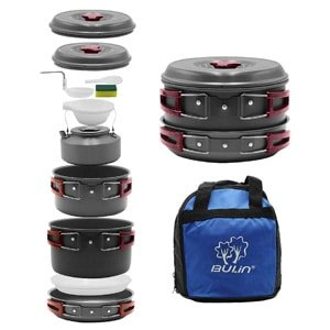 nonstick backpacking cooking set