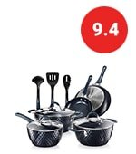 nutrichef nonstick cookware excilon home kitchen ware pots & pan