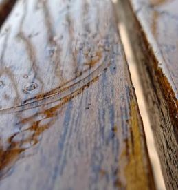 when water soaks into wood floor