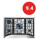 empava gas stove cooktop in stainless steel