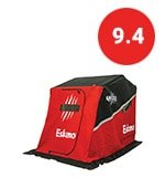 eskimo grizzly series sled ice fishing shelter