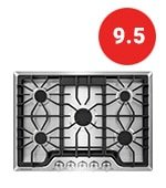 frigidaire gas cooktop in stainless steel