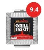 grillaholics heavy duty grill basket large grilling basket