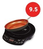 """nuwave precision induction cooktop flex with 9"""" fry pan"""