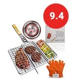 qualitech 430 stainless steel non stick folding bbq