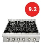 thorkitchen pro style gas rangetop with sealed burners