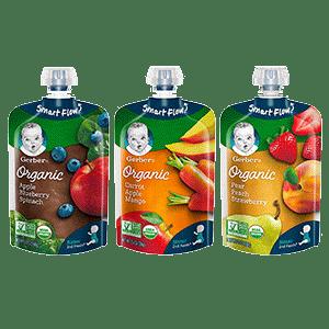 Gerber Organic Variety Baby Food
