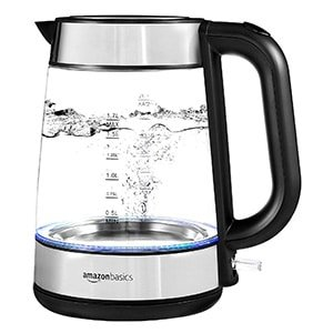 amazonbasics electric glass tea kettle