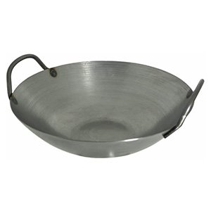 carbon steel wok with two side handle