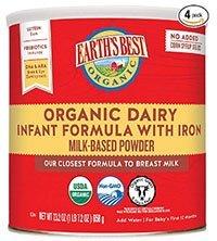 earth's organic formula milk powder for baby