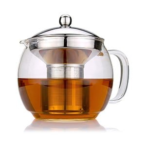 cozyna glass teapot with infuser for blooming and loose leaf tea pot