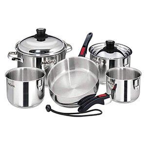 gourmet nesting stainless steel cookware