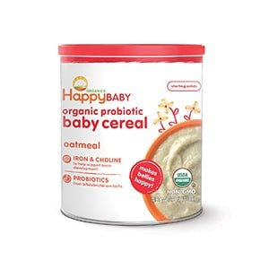 happy oatmeal cereal for baby