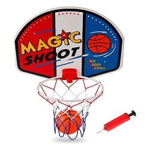 liberty imports magic shot indoor basketball hoop set