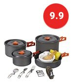 REDCAMP Cookware set Mess Kit with Kettle