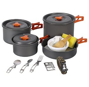 Cookware Mess Kit with Kettle