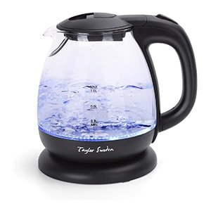 Small Glass Kettle Compact Mini Sized