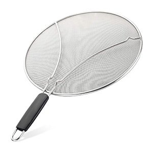 splatter screen for frying pan