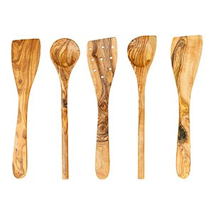 tramanto olive wood utensil set