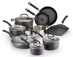 T-fal Nonstick Anodized Cookware set