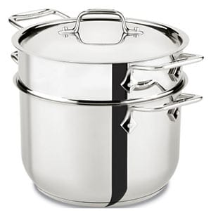 all clads stainless steel pasta pot
