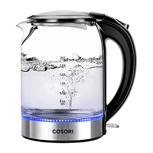 cosori electric glass tea kettle