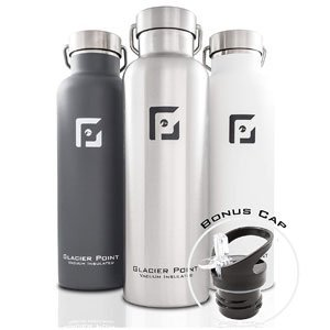glacier vacuum insulated water bottle