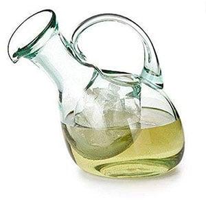 kalalou tilted white wine decanter
