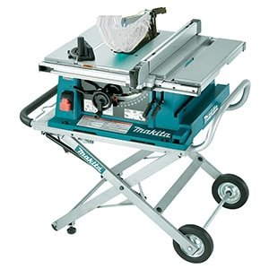 makita contractor table saw with stand