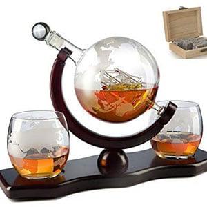 savant wine whiskey decanter