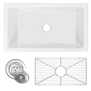 White Farmhouse Apron Sink